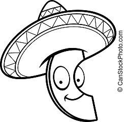 Cartoon Avocado Sombrero