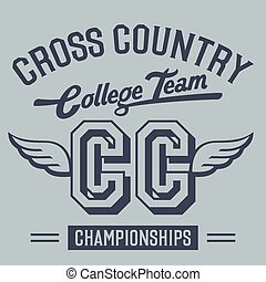 Cross Country College Team t-shirt - Cross country...