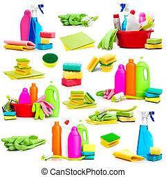 拼貼藝術, 相片, 清掃, 提供, 洗滌劑