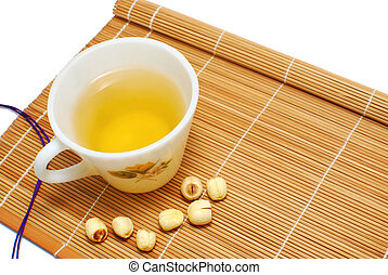 Green tea with Chinese alternative medicine