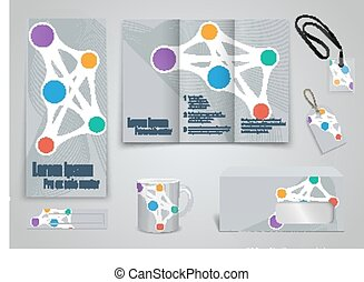 Set of presentation of flyer design content background