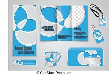 Set of presentation of flyer design content
