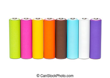Multicolored Batteries - Multicolored AA size batteries...