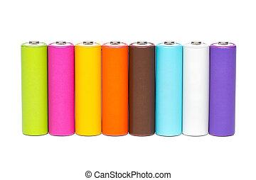 Multicolored, baterias,