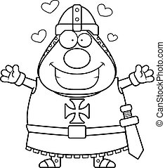 Cartoon Templar Hug - A cartoon illustration of a Templar...