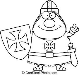 Cartoon Templar Idea - A cartoon illustration of a Templar...