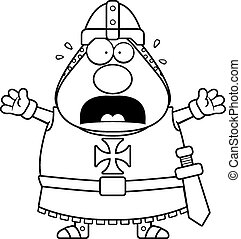 Scared Cartoon Templar - A cartoon illustration of a Templar...