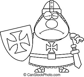 Sad Cartoon Templar - A cartoon illustration of a Templar...