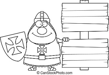 Cartoon Templar Sign - A cartoon illustration of a Templar...
