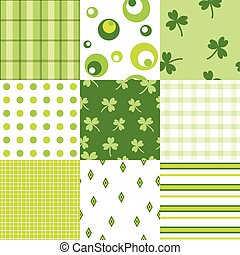 March 17 - set of seamless patern on St Patrik day