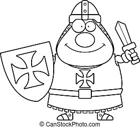 Happy Cartoon Templar - A cartoon illustration of a Templar...
