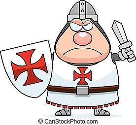 Angry Cartoon Templar - A cartoon illustration of a Templar...