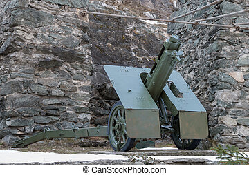 italian wheeled howitzer used in second world war - italian...