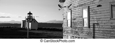 Keepers Quarters Stands Weathered Near Cape Mountain...