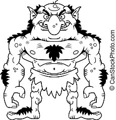 Cartoon Troll - A cartoon illustration of a troll standing