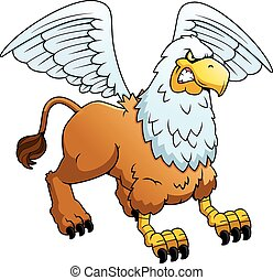 Angry Cartoon Griffin - A cartoon illustration of a griffin...