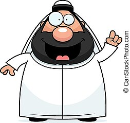 Cartoon Sheikh Idea - A cartoon illustration of a sheikh...