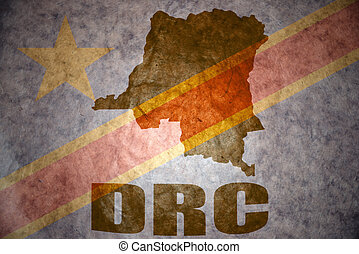 democratic republic of the congo vintage map - democratic...