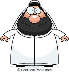 Happy Cartoon Sheikh - A cartoon illustration of a sheikh...