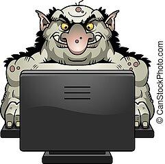Cartoon Internet Troll