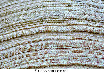 extruded material, close up