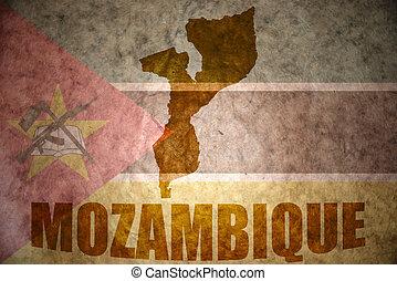 mozambique vintage map - mozambique map on a vintage...