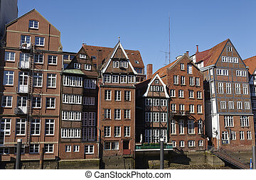 Hamburg - Old houses at the Nicolai Fleet - The old houses...