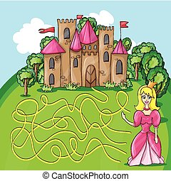 Maze game - hehp princess to find the way to her castle