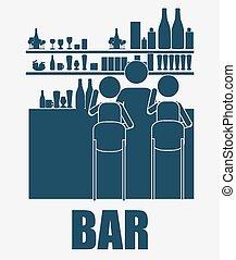 bar, desing, vector illustration. - bar, desing over, white...