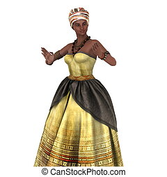 young woman - image of African young woman
