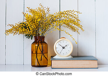 mimosa - Home decor, mimosa yellow spring flowers in a...