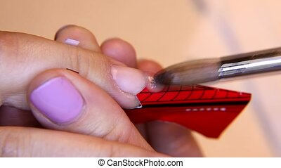 covering varnish of nails