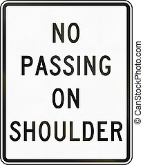 No Passing On Shoulder - United States Delaware no passing...