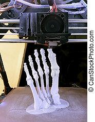 Foot Bones Printing - 3D Printing Model of Human Foot Bones