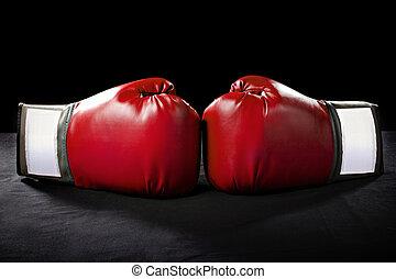 boxe, luvas,