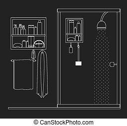 furniture design, vector illustration - furniture design...