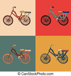 bicycle, desing vector illustration