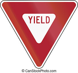 US Yield Sign - United States traffic sign: Yield sign