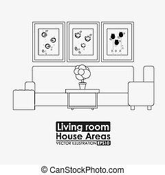 furniture design vector illustration - furniture design over...