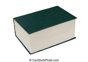 The thick book - The thick green book lays separately on a...