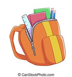 Illustrations de livre scolaire 696 images clip art et - Clipart cartable ...