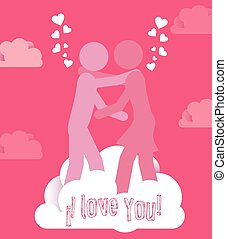 Love design, vector illustration - Love design over pink...