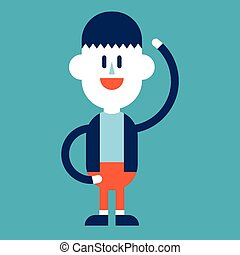 Character illustration design Businessman joyful cartoon,eps...