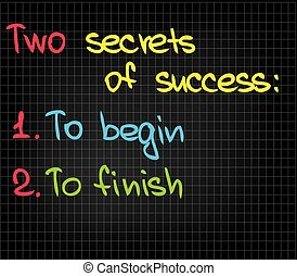 2 secrets of success