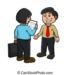 meet with the client - illustration of the meet with the...