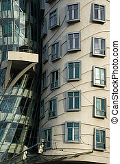 Dancing House in Prague wall fragment
