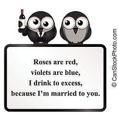 Married to you Poem - Monochrome comical married to you poem...