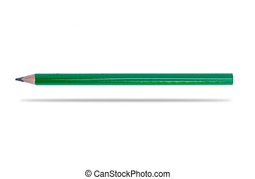 Green pencil isolated on white