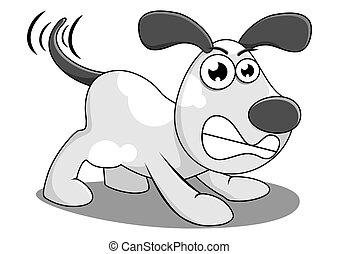 angry dog - illustration of an angry dog