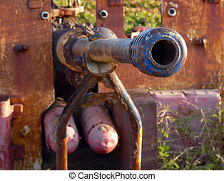 Fragment of an old gun - Fragment of an old gun, war times...